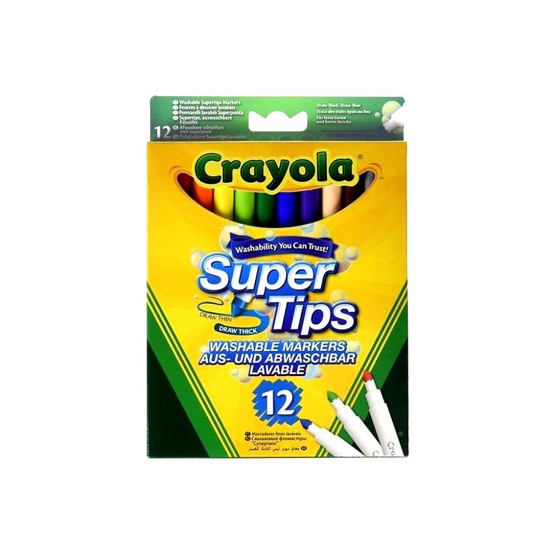 Crayola Super Tips Washable Markers - pack of 12