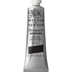 Winsor and Newton Designers Gouache 37ml - Ivory black