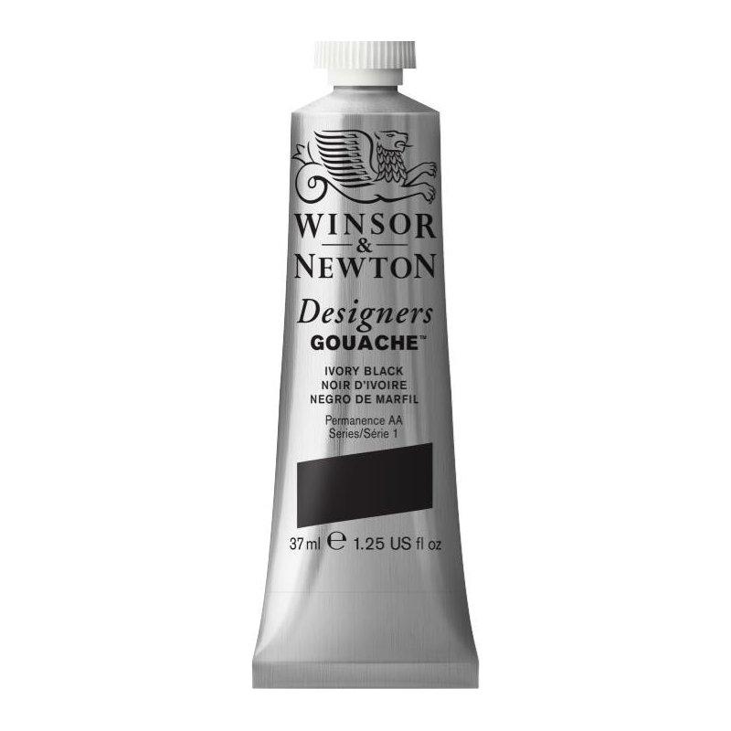Winsor and Newton Designers Gouache 37ml - Ivory black