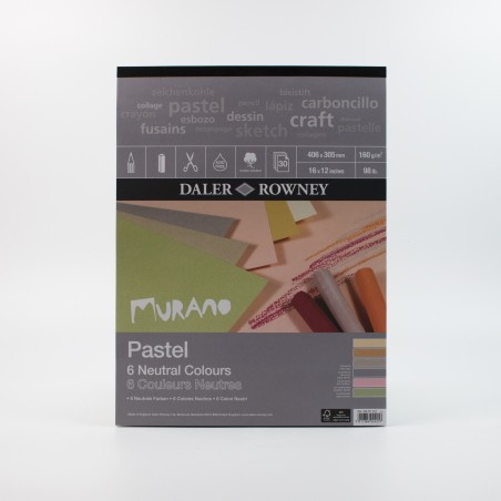 Daler Rowney Murano Pastel pads 160gsm 30 sheets - neutral colours