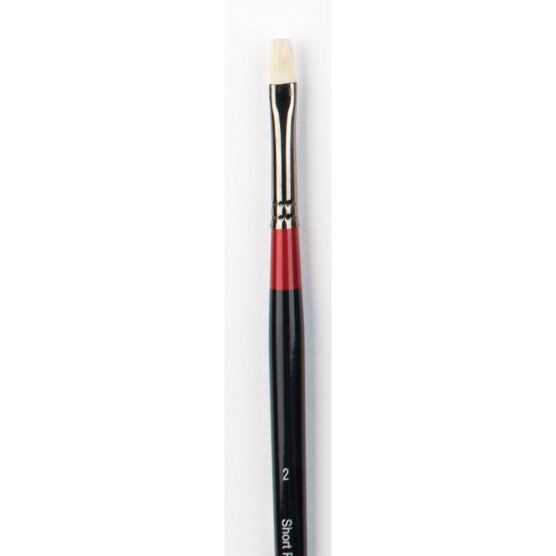 Georgian Oil Brushes - G36 - Short flat - size 2