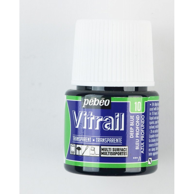 Pebeo Vitrail Glass Paint - 45ml - deep blue 10