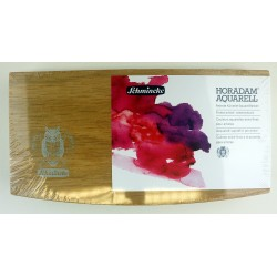 Schmincke Horadam Aquarelle Wooden gift set of 12 x pans + brush