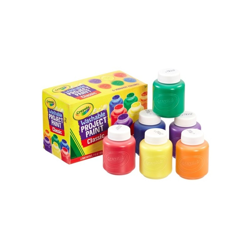 Crayola - washable project paint - pack of 6