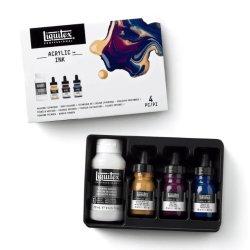 Liquitex ultra-fluid professional acrylic ink - deep colours set