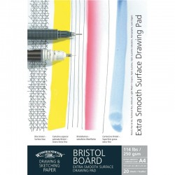 Winsor and Newton Extra Smooth Bristol Heavy Weight Board Pad Gummed 250gsm