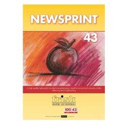 Frisk Newsprint - pad of 100 sheets - A4