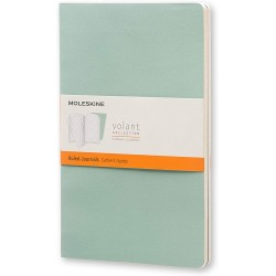 Moleskine large ruled journals - greens - soft cover