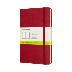 Moleskine Plain Red Notebook - hard cover - 130 x 210mm