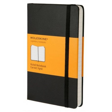 Moleskine Ruled Black Notebook - Large - hard cover - 130 x 210mm