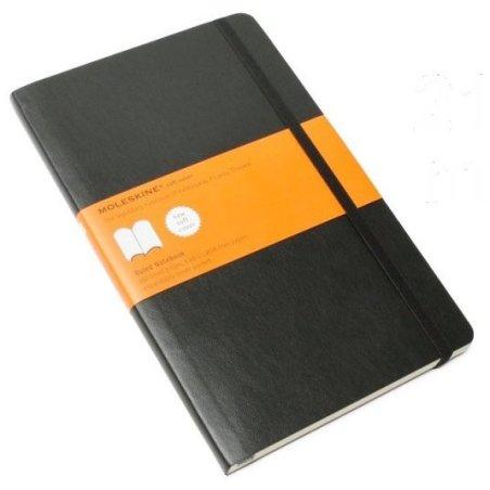 Moleskine Ruled Black Notebook - soft cover - Large 130 x 210mm