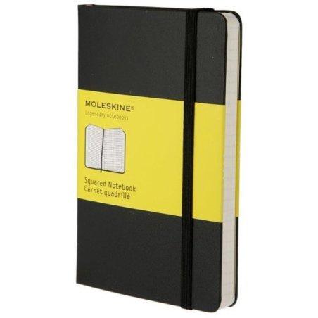 Moleskine Squared Black Notebook - Pocket - hard cover - 90 x 140mm