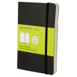 Moleskine Plain Black Notebook - soft cover - Pocket 90 x 140mm