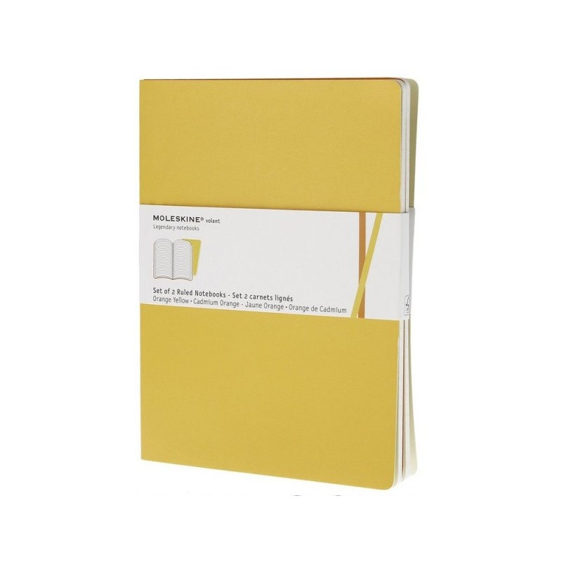 Moleskine Ruled Volant Notebook Set - soft cover - XLarge 190 x 250mm