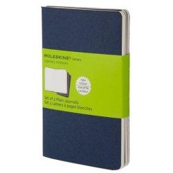 Moleskine set of 3 squared journals - indigo blue -soft cover - Pocket 90 x 140mm
