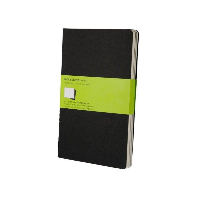 Moleskine set of 3 plain journals - black -soft cover - Large 130 x 210mm