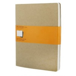 Moleskine set of 3 ruled journals - kraft brown -soft cover - X Large 190 x 250mm