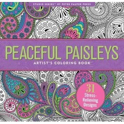 Peaceful Paisleys Adult Colouring Book