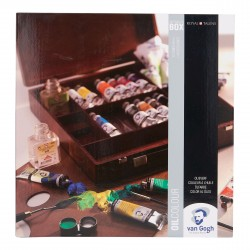 Oil Colour Wooden Box Set Inspiration with 14 Colours