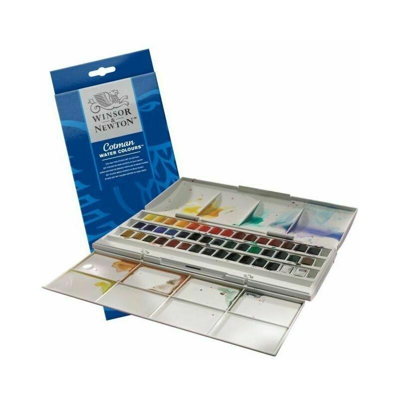 Winsor & Newton Watercolour Cotman Studio 45 Half Pan Set