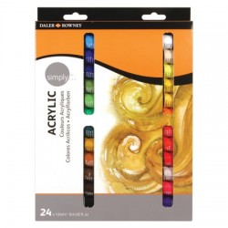"""""""Simply Paint"""" acrylic, assorted colours - pack of 24"""