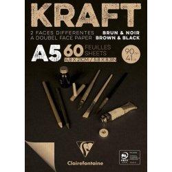 Brown & Black laid Kraft...