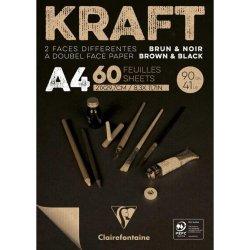 Brown & Black laid Kraft 90g A4 60sh pad
