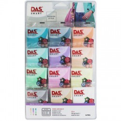 Das Smart Fashion Style Pastel Colours Polymer Clay Set of 12