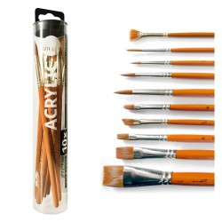 Daler Rowney Simply Acrylic Brush Set (10)