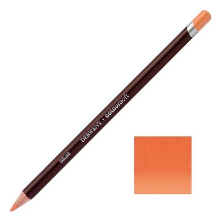 Bright Orange Derwent Coloursoft Pencil