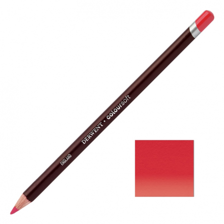 Deep Red Derwent Coloursoft Pencils