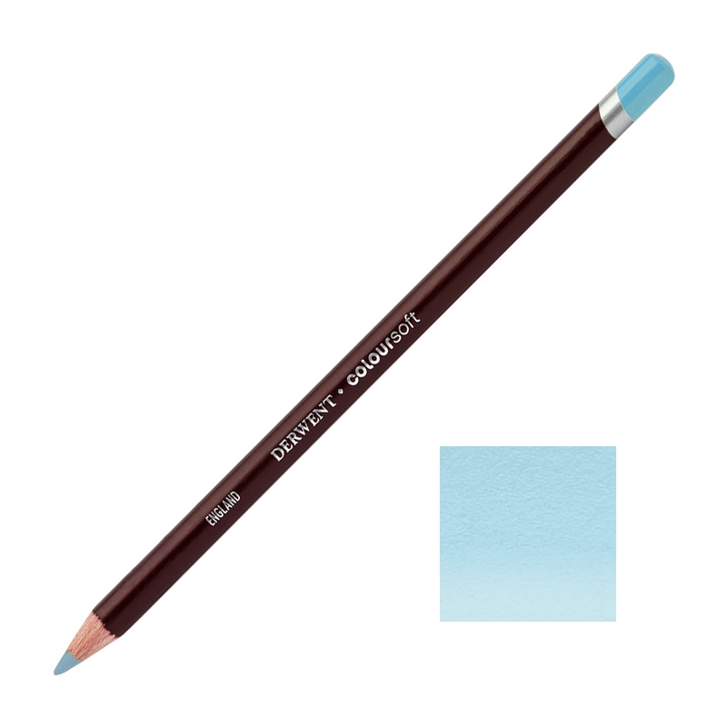 Baby Blue Derwent Coloursoft Pencils