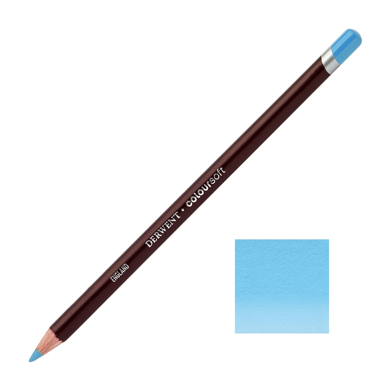 Pale Blue Derwent Coloursoft Pencils