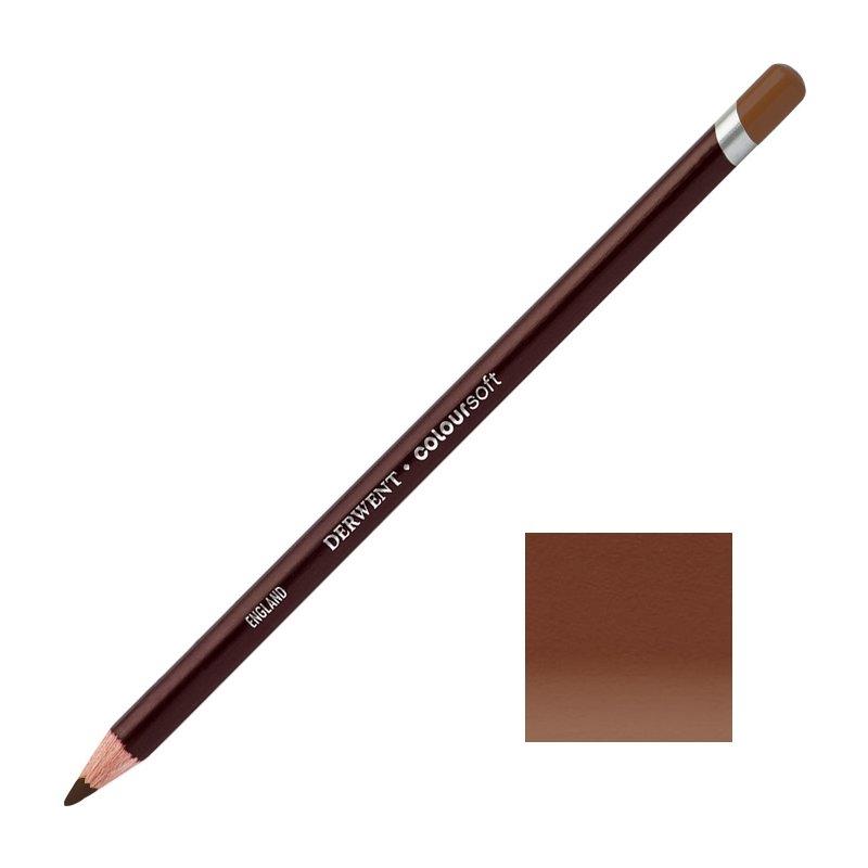 Mid Brown Derwent Coloursoft Pencils