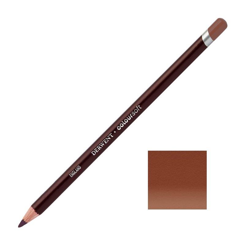 Dark Terracotta Derwent Coloursoft Pencils