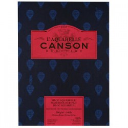 Canson Heritage Hot Pressed Watercolour Pad 300gsm