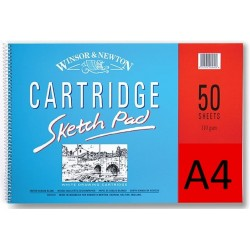 Winsor and Newton 50 Sheets A4 Cartridge Sketch Spiral Pad