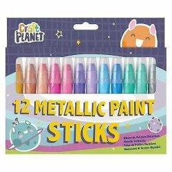 Craft Planet Metallic Paint Sticks Pack of 12