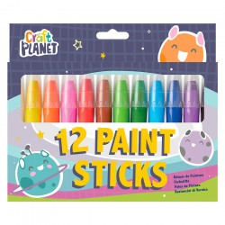 Craft Planet Bright Paint Sticks Pack of 12