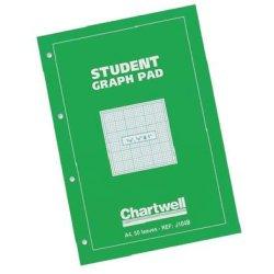 "Student Graph Pad 50sh A4 1/10 1/2 & 1"" 70g"