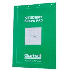 "Student Graph Pad A3 30sh 1/10 - 1/2 & 1"" 70g"