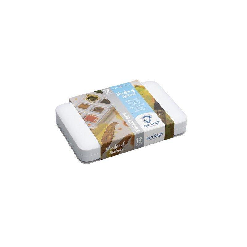 Van Gogh Watercolour Pocket Box Set of 12 (Shades of Nature)