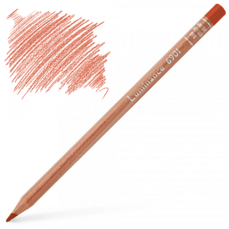 Caran d'Ache Luminance 6901 Colour Pencil - Dark Cadmium Orange