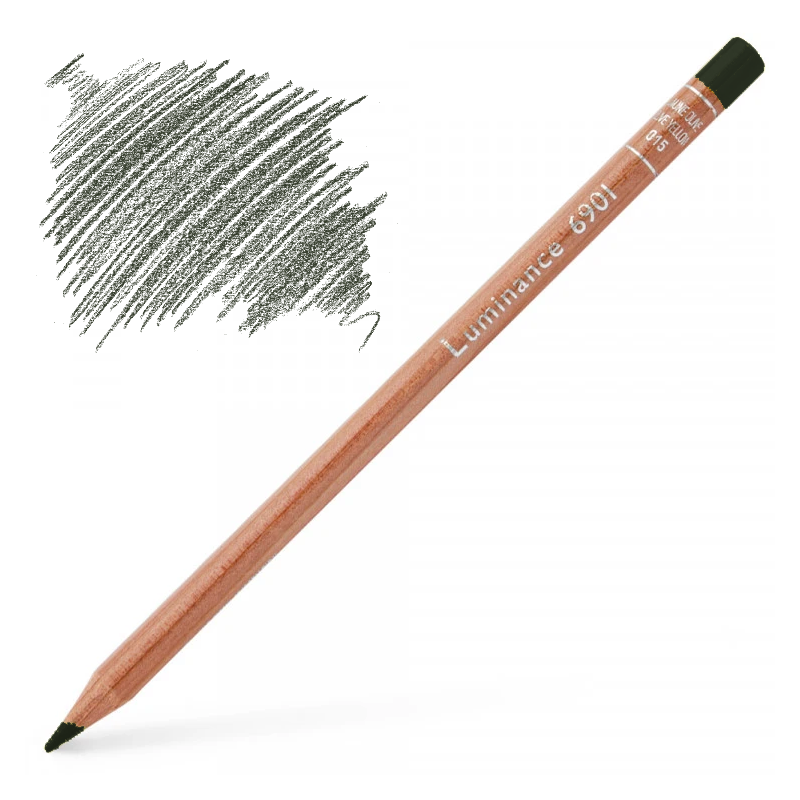Caran d'Ache Luminance 6901 Colour Pencil - Dark Sap Green