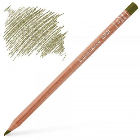Caran d'Ache Luminance 6901 Colour Pencil - Olive Brown