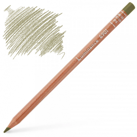 Caran d'Ache Luminance 6901 Colour Pencil - Raw Umber 50%