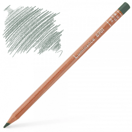 Caran d'Ache Luminance 6901 Colour Pencil - Steel Grey