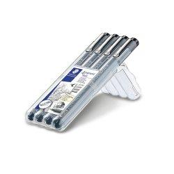 Staedtler Pigment Liner 308 Fineliner Pen Pack of 4