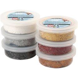 Foam Clay®, Metallic, Assorted Colours, 14 G, 6 Tub