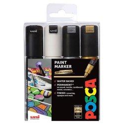 uni Posca Paint Marker PC-8K 8mm Mono Tones Set of 4